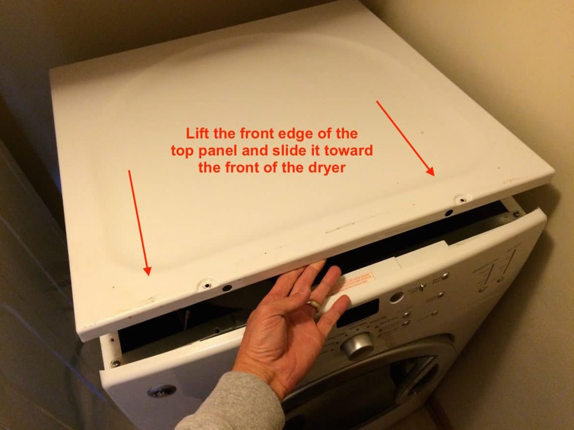 How To Replace Heating Element On Ge Electric Dryer Share Your Repair Fuse Box Pull Outs Lift The Front Edge And Slide Panel Toward