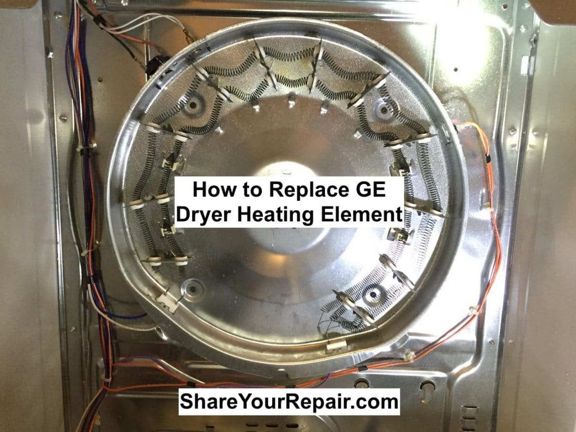 Ge Dryer Heating Element Wiring Diagram : How to replace heating element on ge electric dryer