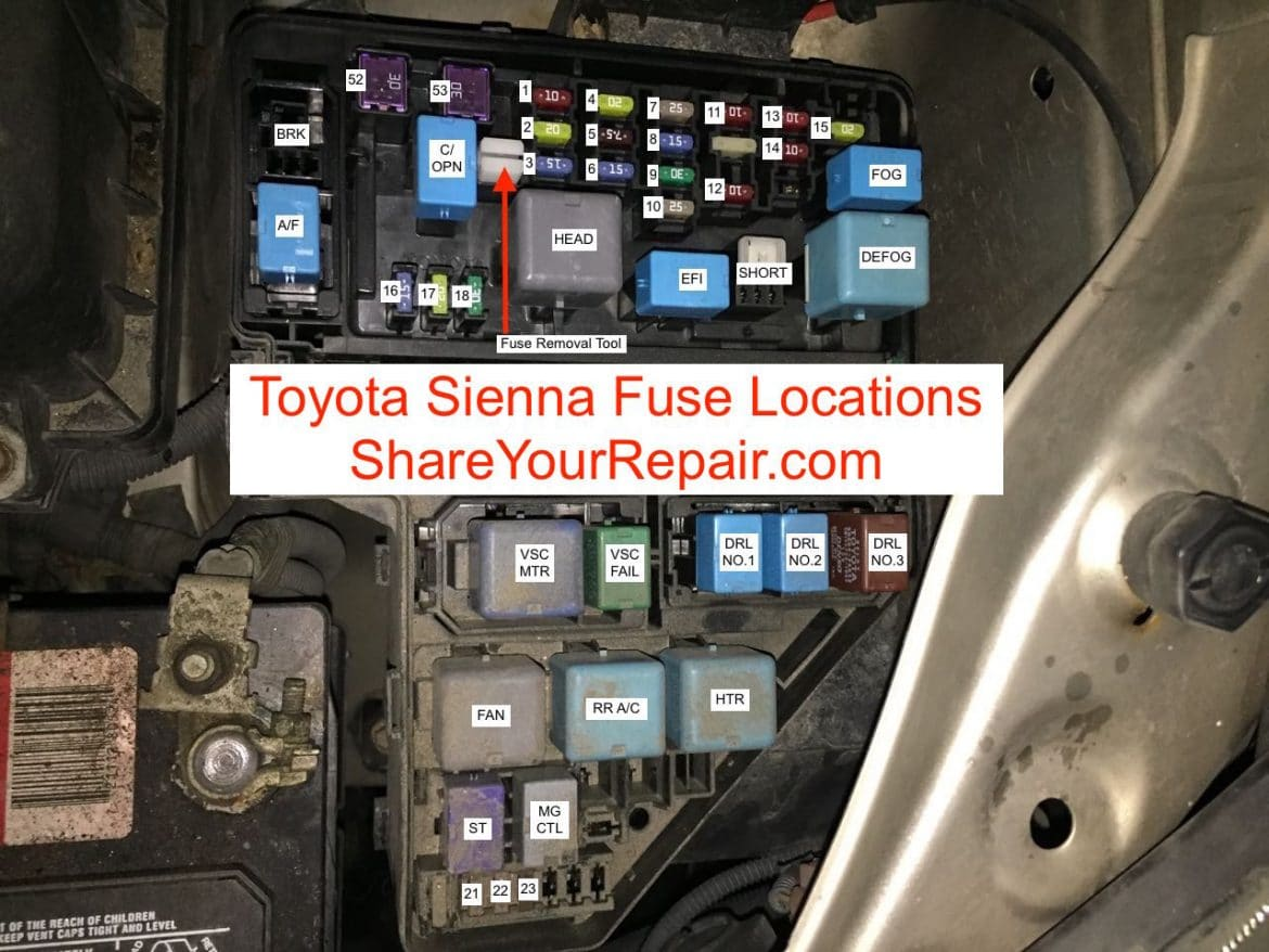 Toyota Sienna Fuse Locations - Share Your Repair on hino dome light wiring diagram, toyota dome light assembly, chevy dome light wiring diagram, toyota dome light fuse, toyota truck light wiring diagram, acura dome light wiring diagram, ford dome light wiring diagram, car dome light wiring diagram, jeep dome light wiring diagram, vw bug dome light wiring diagram,