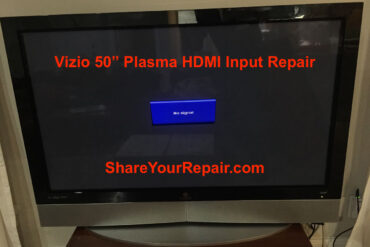 Vizio 50 Plasma HDMI Port Repair-No Signal