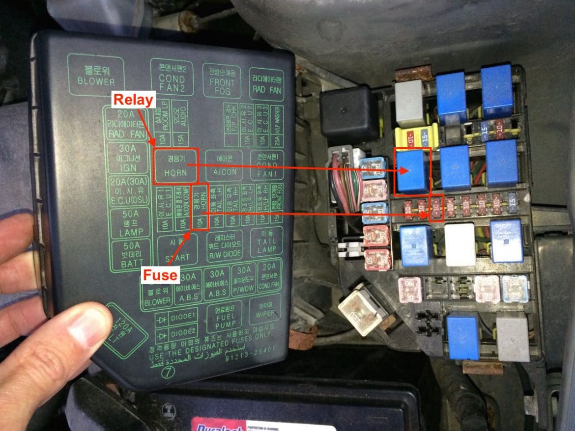 1999 2005 Hyundai Accent Horn Will Not Work Share Your Repair 99 Elantra Wiring Diagram Fuse And Relay Locations